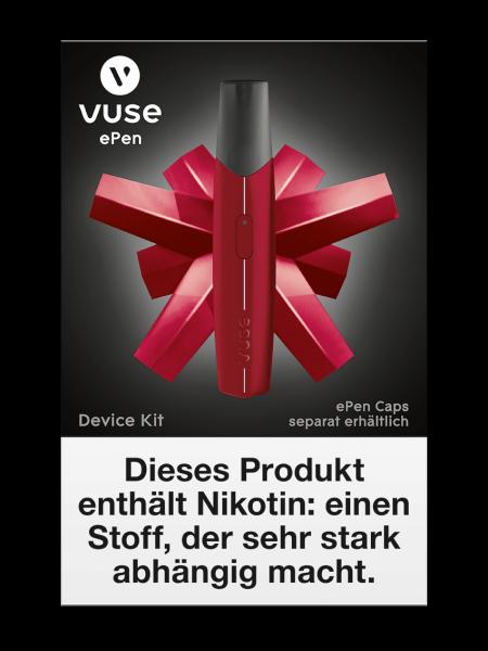 E-Zigarette Vuse Starterset ePen Device Kit Rot 0 mg