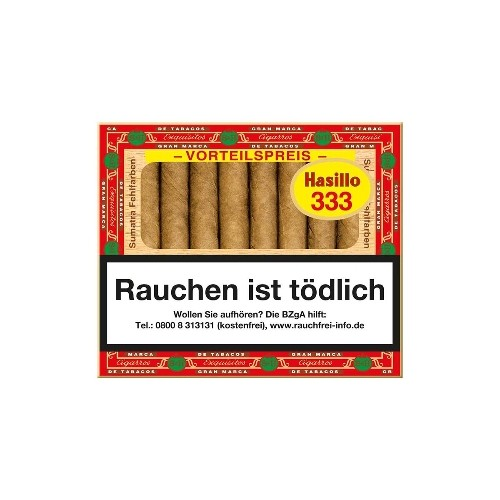 Hasillo No.333 Sumatra 50 Zigarillos