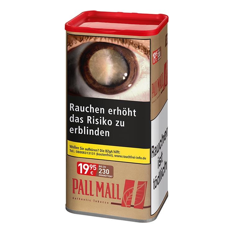 Zigarettentabak Pall Mall Authentic Red ohne Aroma Feinschnitt 105 g   TABAK-BÖRSE24.de