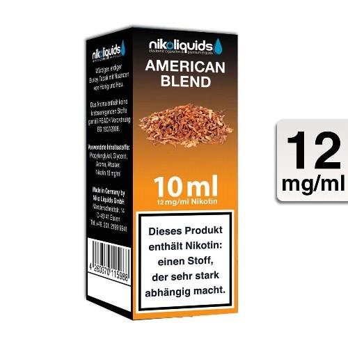E-Liquid Nikoliquids American Blend 12 mg/ml Flasche 10 ml