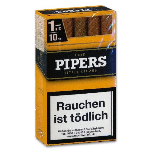 Pipers Little Cigars Vanilla/Gold (10)