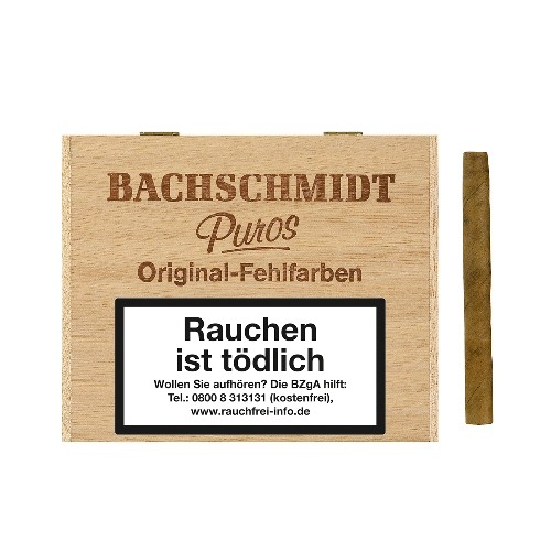 Bachschmidt Puros Original-Fehlfarben Sumatra 50 Zigarillos