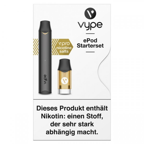 E-Zigarette VYPE ePod Starterset Anthrazit 18 mg