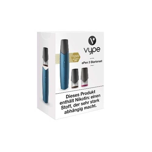 E-Zigarette VYPE ePen 3 Starterset blau 12 mg vPro 2 Caps