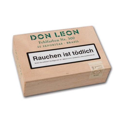 Don Leon Senoritas Fehlfarben Nr. 300 Brasil 50 Zigarillos