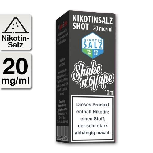 E-Liquid Nikotinsalz NIKOLIQUIDS Shot ohne Aroma 20 mg/ml