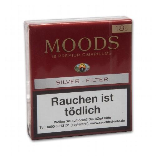 Dannemann Moods Silver Filter 18 Zigarillos