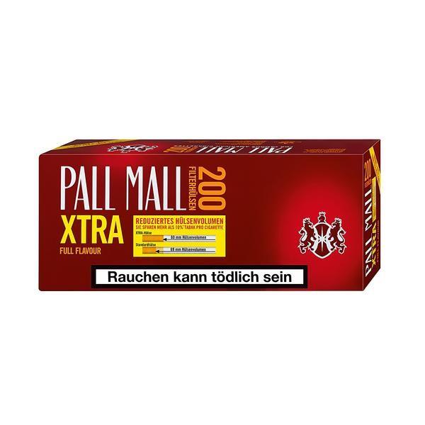 Zigarettenhülsen Pall Mall Full Flavor Extra Hülsen 200 Stück