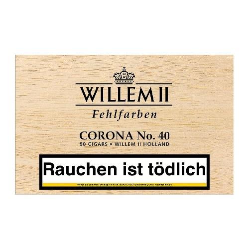 Willem II Fehlfarben Corona No.40 Sumatra 50 Zigarren