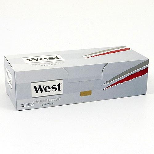 Zigarettenhülsen West Silver King Size 200 Stück