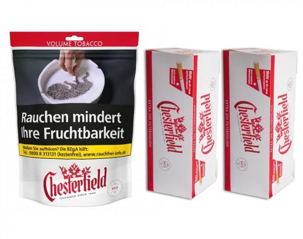 Chesterfield Tabak 150 Gramm + 500 Chesterfield Extra Hülsen