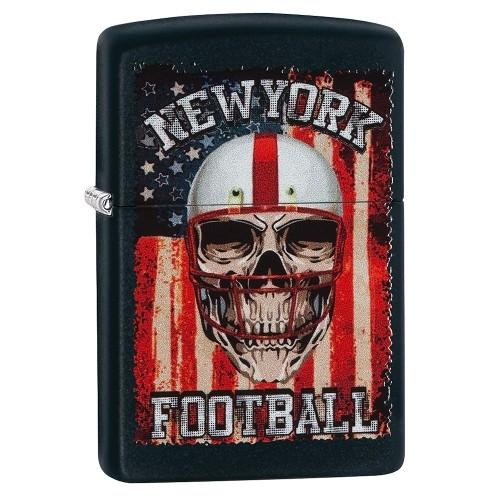 Zippo schwarz matt New York Football