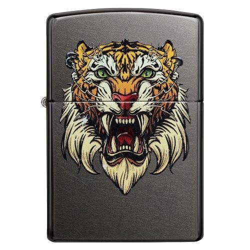 ZIPPO Sturmfeuerzeug gray dusk Tiger Color