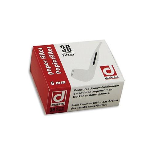 Pfeifenfilter Denicotea 6 mm 1 Schachtel à 36 Filter