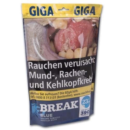 Break Blue Giga Zigarettentabak Volumen 175 Gramm