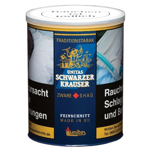 Zigarettentabak Unitas Schwarzer Krauser 140 Gramm
