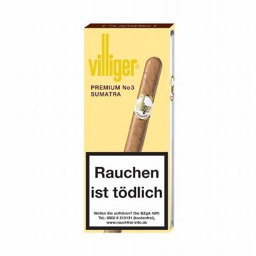 Villiger Premium No.3 Sumatra 5 Zigarren