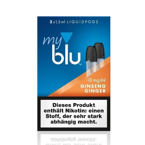 myblu Ginseng Ginger 2 x LIQUIDPOD mit 18 mg Nikotin