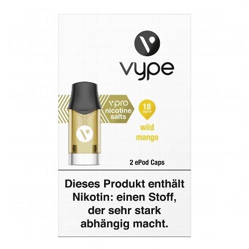 E-Kartusche VYPE ePod Caps vPro Wild Mango 18 mg 2 Caps