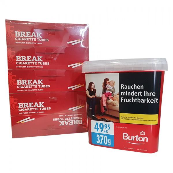 1 x Eimer Burton Red 350 Gramm & 1000 Break Hülsen