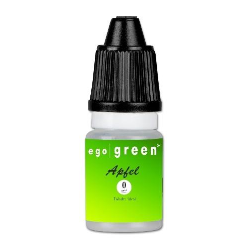 E-Liquid egogreen Apfel nikotinfrei Flasche 10 ml