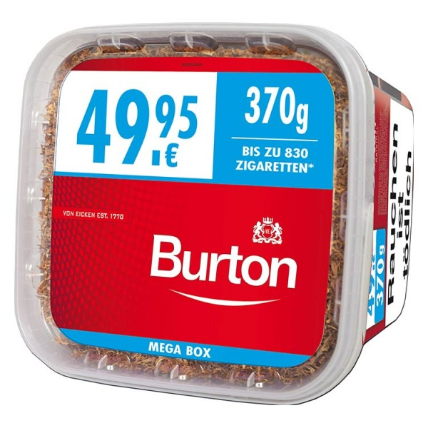 Burton Volumen Full Red Zigarettentabak XXXL 370 Gramm