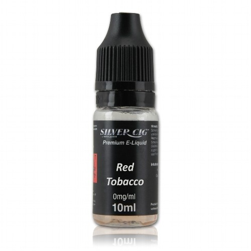 E-Liquid SilverCig Red Tobacco nikotinfrei Flasche 10 ml