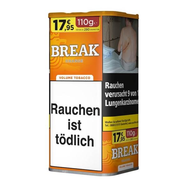 Zigarettentabak Break Orange Volumen XXL 110 Gramm