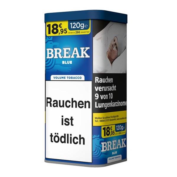 Zigarettentabak Break Blue Volumen 120 Gramm