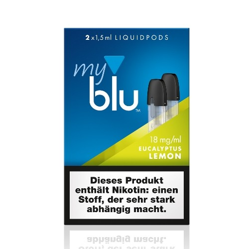 myblu Eucalyptus Lemon 2 x LIQUIDPOD mit 18 mg Nikotin