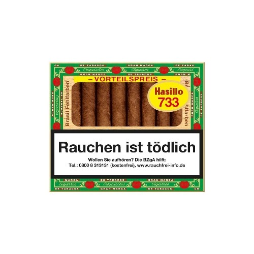 Hasillo No.733 Brasil 50 Zigarillos