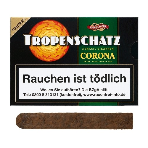 Tropenschatz Nr.824 Fehlfarben Corona Brasil 5 Zigarren