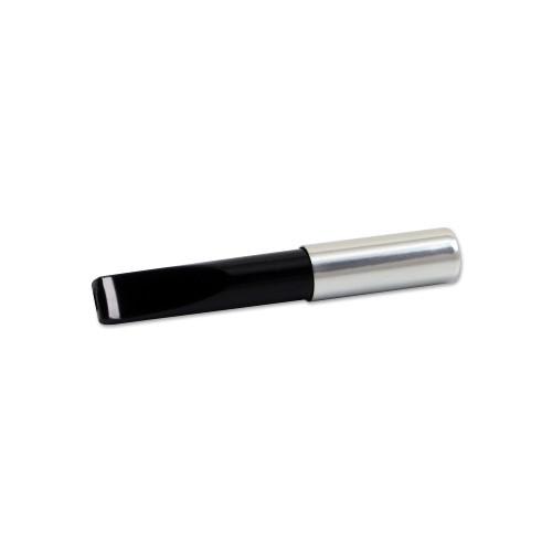 Zigarettenspitze Ermuri mit Auswurfautomatik aus Kunststoff Chrom in schwarz silber