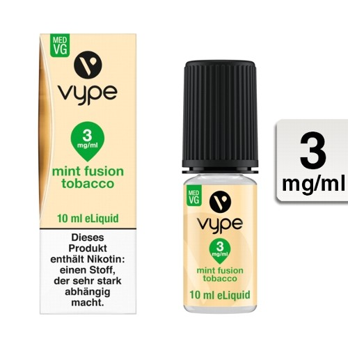 E-Liquid VYPE Bottle Mint Fusion Tobacco 3mg