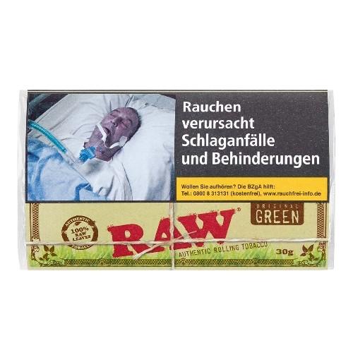Zigarettentabak RAW Original Green Authentic Organic 30 Gramm