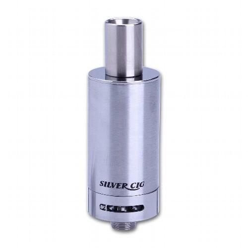 Clearomizer SilverCig E-Still E-One TC BDC 2 ml 0,2 Ohm aus Edelstahl Glas in silber