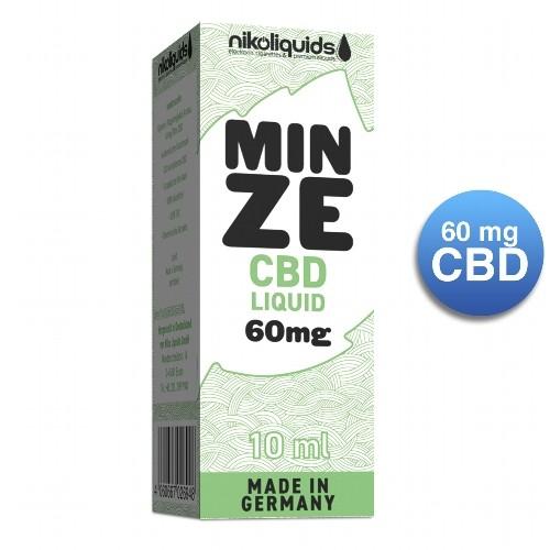E-Liquid NIKOLIQUIDS Mint 60 mg CBD
