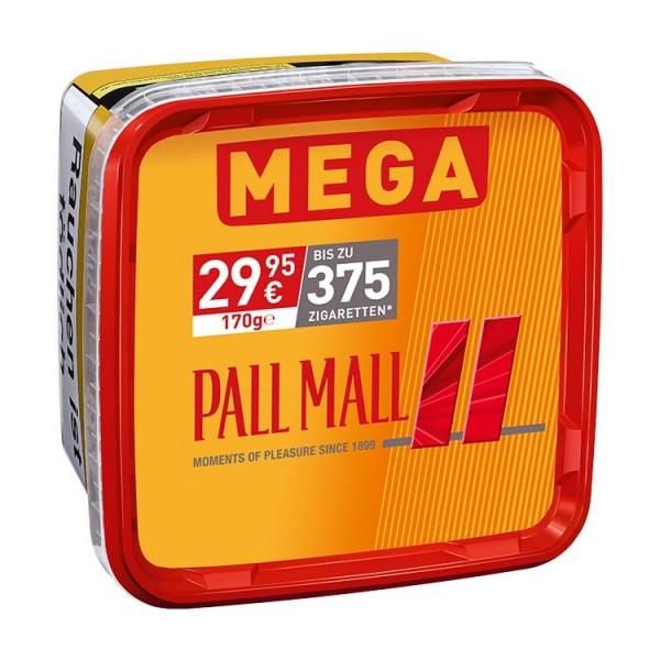 Pall Mall Zigarettentabak Allround Red Volumen Mega-Box 170 Gramm