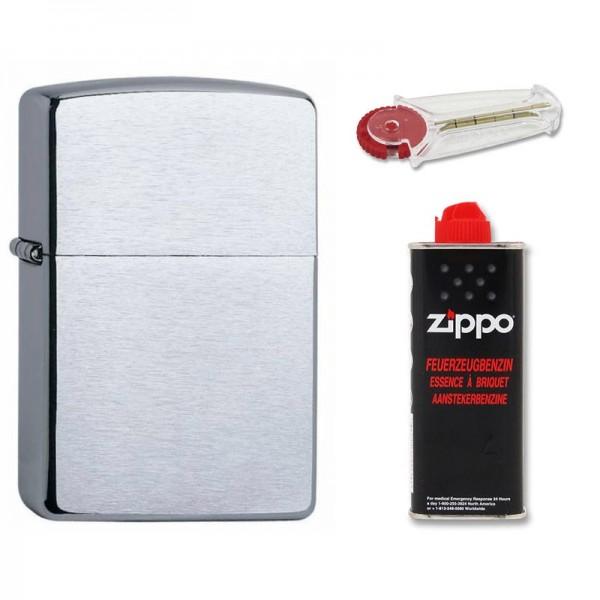 Zippo Feuerzeug, Benzin & Feuerstein