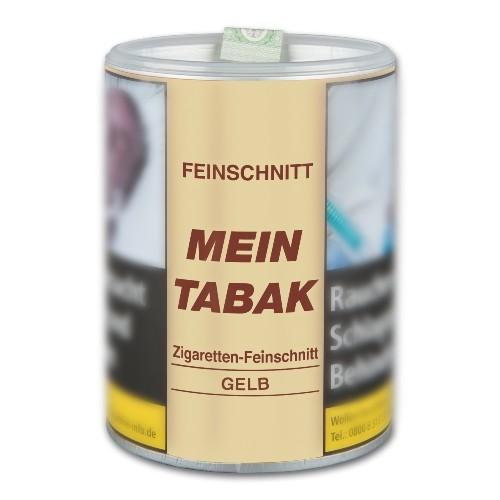 Zigarettentabak Mein Tabak Gelb Feinschnitt 180 Gramm