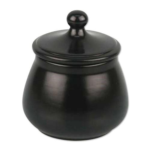 Pfeifentabaktopf aus Keramik in schwarz
