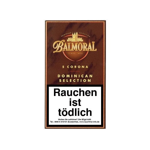 Balmoral Dominican Selection Corona 5 Zigarren