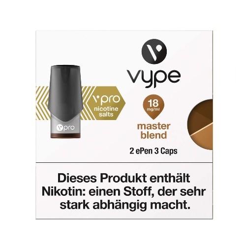 E-Zigarette VYPE ePen 3 vPro Master Blend 18 mg 2 Caps