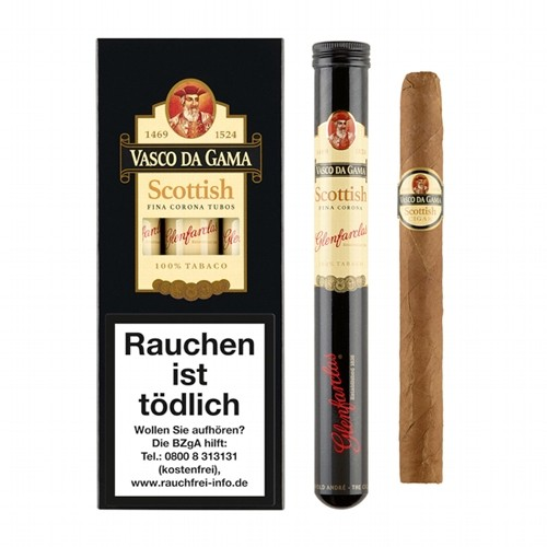 Vasco da Gama Scottish Corona Tubos 3 Zigarren