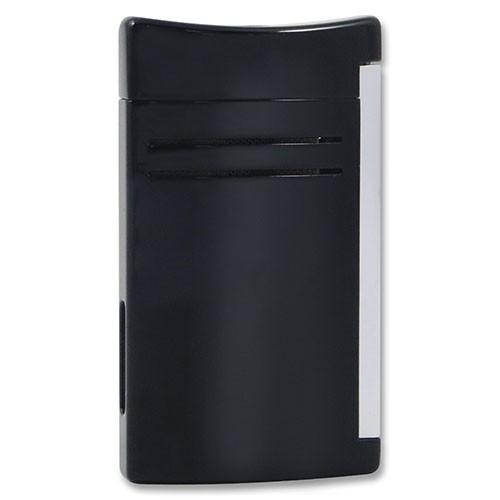 Feuerzeug Dupont Maxi Jet aus Aluminium eloxiert in schwarz glänzend silber