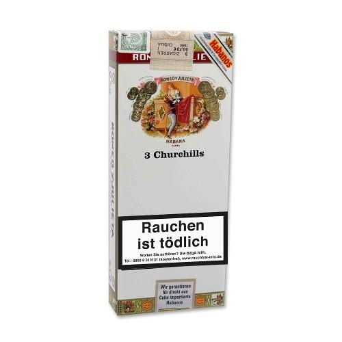 Romeo y Julieta Churchills Tubos 3 Zigarren