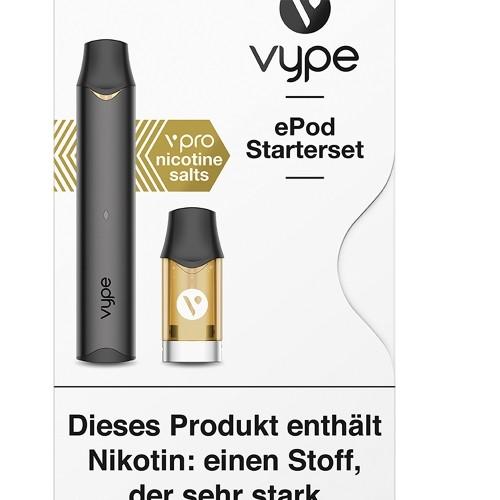 VYPE ePod Starterset schwarz 18 mg