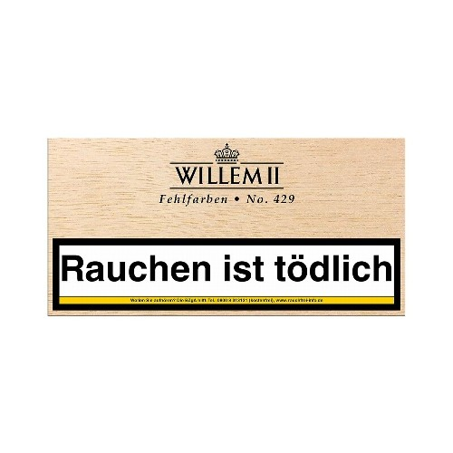 Willem II Fehlfarben No.429 Sumatra 100 Zigarillos