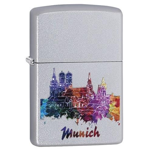 Zippo satiniert Munich Watercolor Design