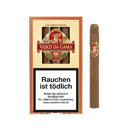 Vasco da Gama No.4 Claro Petit Corona Sumatra 5 Zigarren